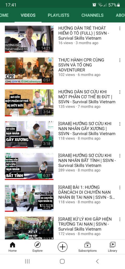 Giao diện youtube